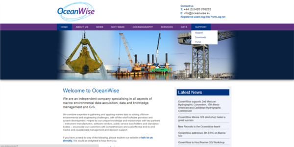 OceanWise home page