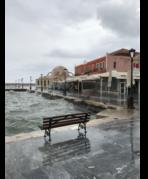 Chania Hafen im Winter