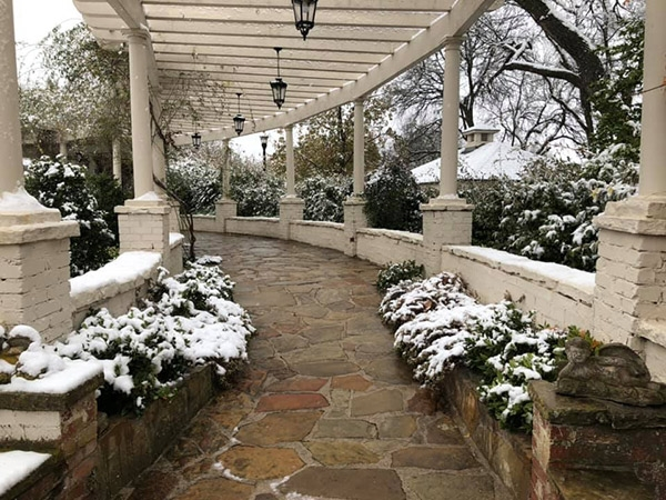 Snowy Scene at Chandor Gardens
