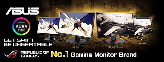 ASUS Number 1 Gaming Monitor Brand - On Sale