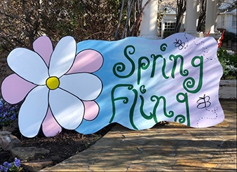 Spring Fling sign by Clair Nowell