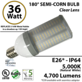 36W 180 degrees LED Corn Bulb Light