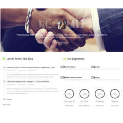Web 4.0 One-Page SEO Optimized Solution Provider Website