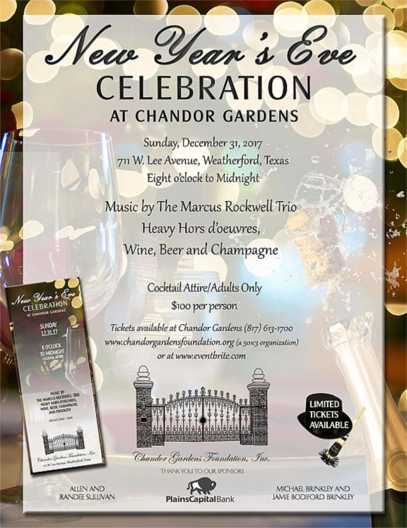 New Year's Eve Celebration at Chandor Gardens