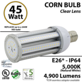 45W LED corn cob light