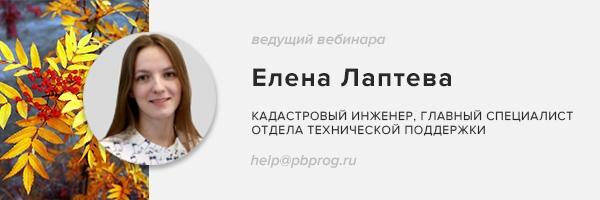Ведущий вебинара