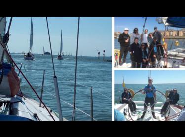 The team go sailing!