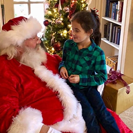 Santa Claus at Holiday Open House