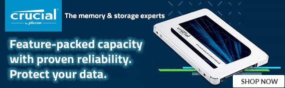 Crucial SSD Feature Packed capacity with proven reliability - Shop Now