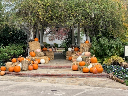 Chandor Gardens Entry decorated for Fall
