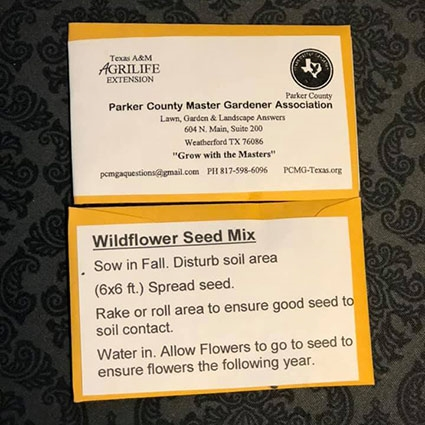Wildflower Seed Mix - Parker County Master Gardeners