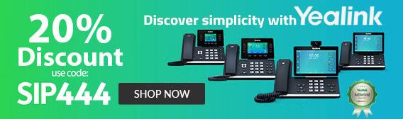 Yealink phones : 20% off with code SIP444 - Shop Now
