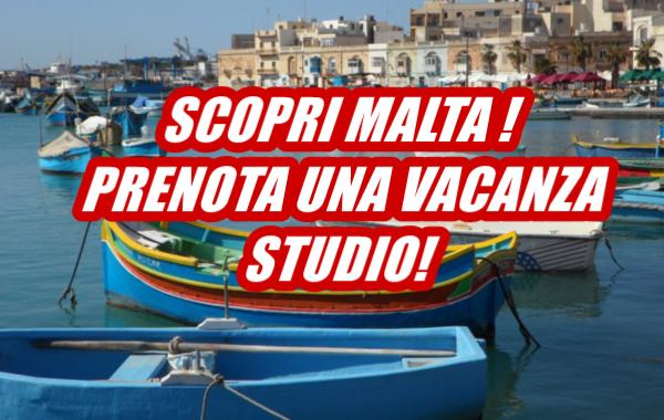 Vacanze studio e corsi di lingua all'estero Malta