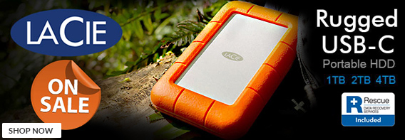 Lacie rugged hard drives - On Sale