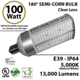 100W 180 degrees LED Corn Bulb Light