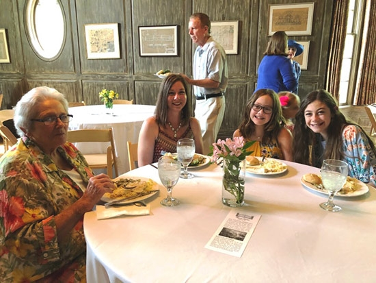 Three Generations Enjoy the Mother's Day Luncheon