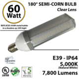 60W 180 degrees LED Corn Bulb Light
