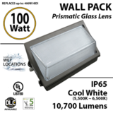 100W LED Wall Pack Replace up to 450W Metal Halide