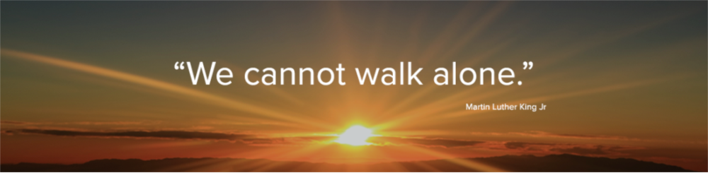We cannot walk alone. - Martin Luther King Jr