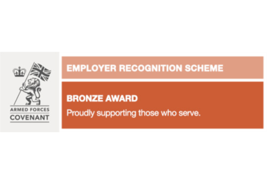 We have received the Defence Employer Recognition Scheme (ERS) Bronze Award