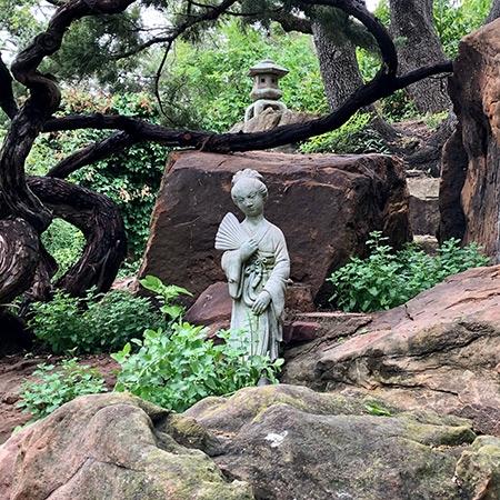 Chinese Girl Statue