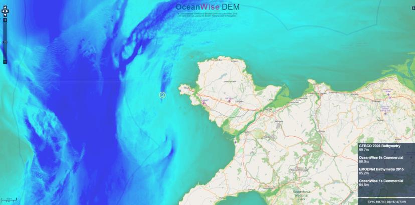 OceanWise DEM off Welsh shore